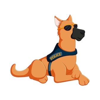 Cartoon police dog