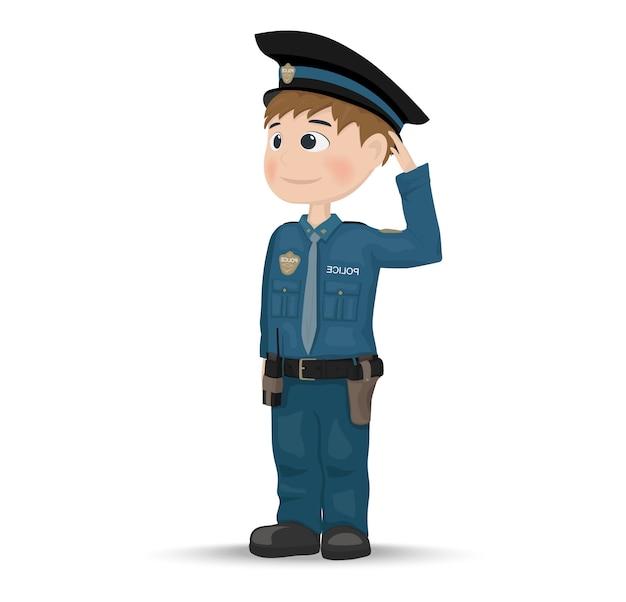 만화 경찰관 캐릭터 아이콘