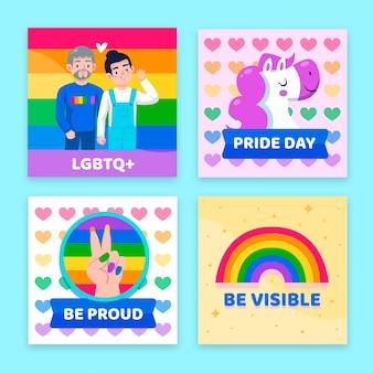 Cartoon pride day instagram posts collection