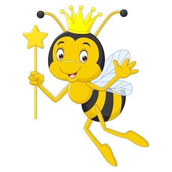 Мультфильм пчелиная королева, изолированные на белом фоне
