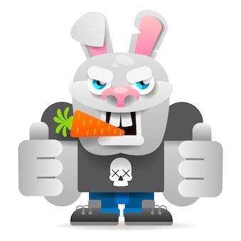 만화 토끼 캐릭터