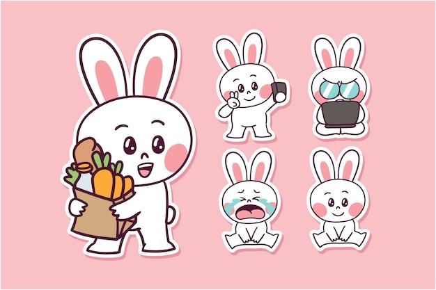 漫画のウサギのイラスト