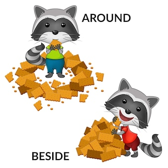 Cartoon raccoons characters