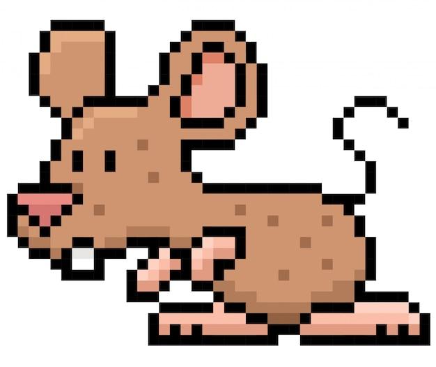 만화 쥐 픽셀 디자인