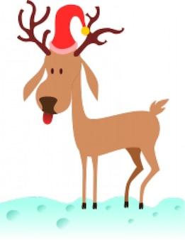A cartoon reindeer