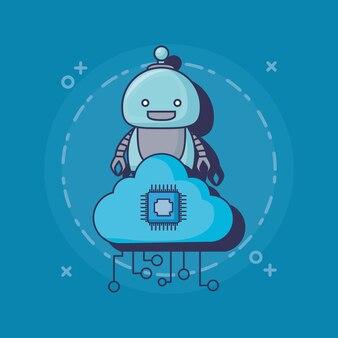 漫画ロボットアイコン