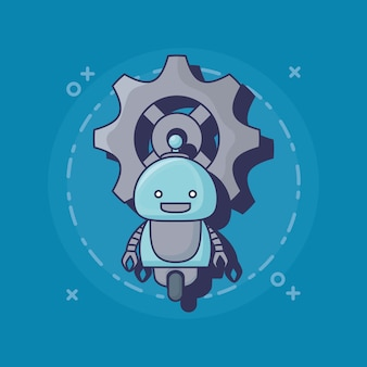 Cartoon robot icon