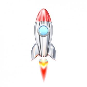 Cartoon rocket ship lunch