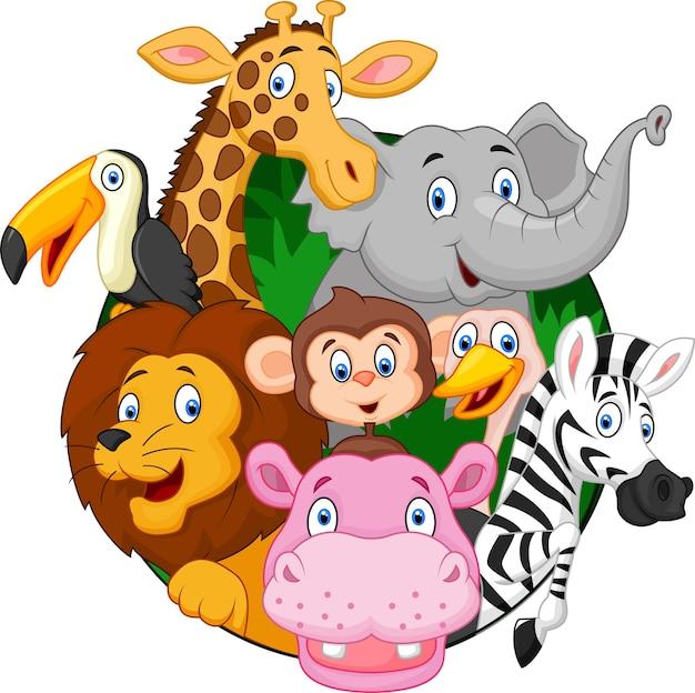 漫画のサファリ動物