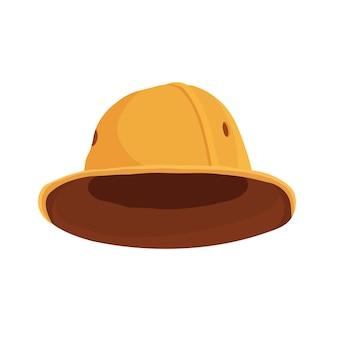 만화 사파리 모자. 관광객 사냥꾼과 탐험가를위한 pith 헬멧