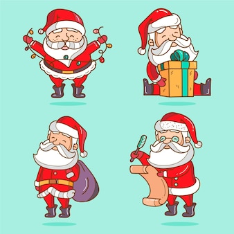 Cartoon santa claus character collection