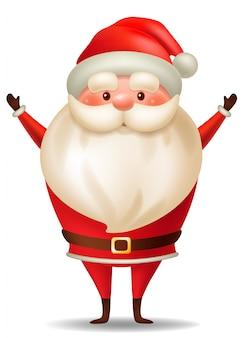 Cartoon santa claus. christmas character.
