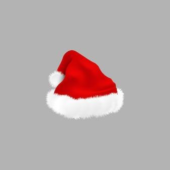 漫画のサンタクロースの赤い伝統的な帽子。