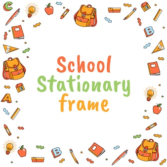 Cartoon school stationary suplies