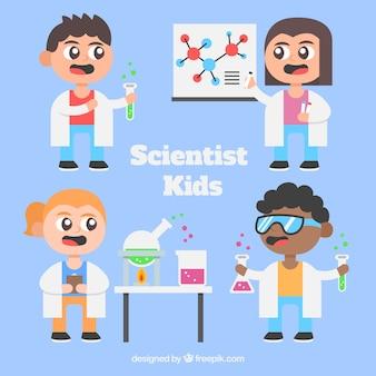 만화 과학자 아이