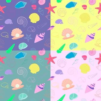 만화 바다 조개 원활한 패턴