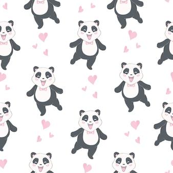 만화 원활한 팬더 패턴