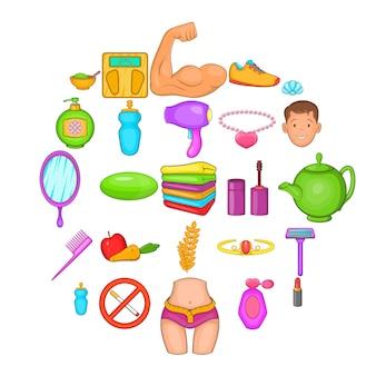 Cartoon set of 25 goodliness icons