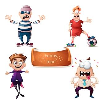 Cartoon set characters