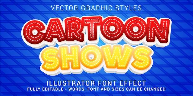 漫画はグラフィックスタイル、編集可能なテキスト効果を示しています