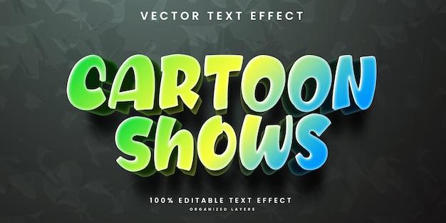 Cartoon shows text effect