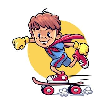 Cartoon skateboy
