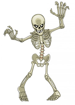 Cartoon of skeleton ghost