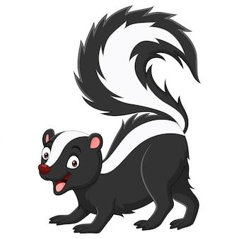Cartoon skunk isolated on white background