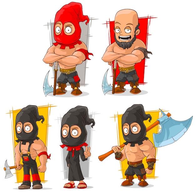 Cartoon slayer with big axe character
