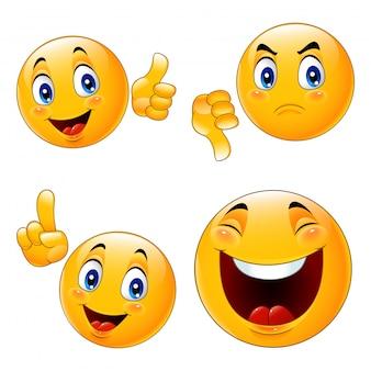 Cartoon smiley emoticon