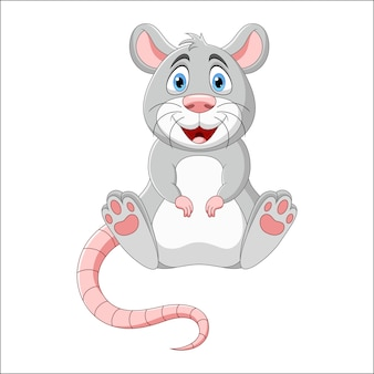 Cartoon smiling mouse illustration