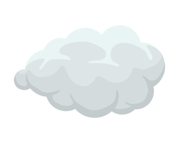 Cartoon smoke or fog cumulus explosion comic cloud flat smoky vector illustration