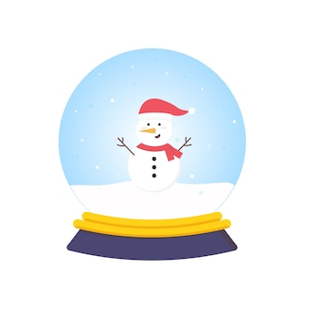 雪だるまと漫画のスノードーム