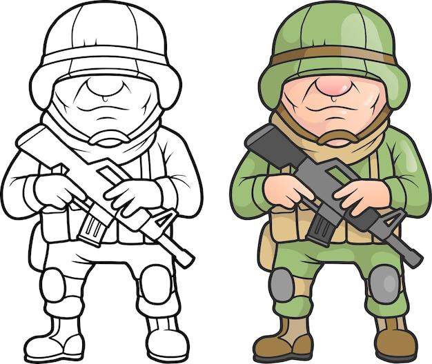 만화 군인