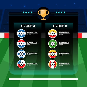 Cartoon south-american football groups illustration