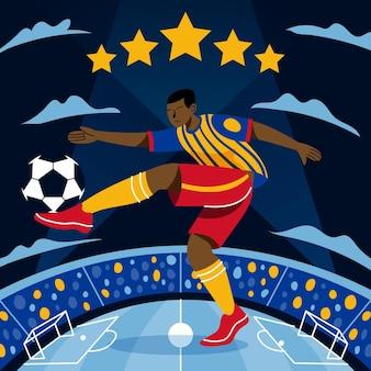 Cartoon south-american football tournament illustration