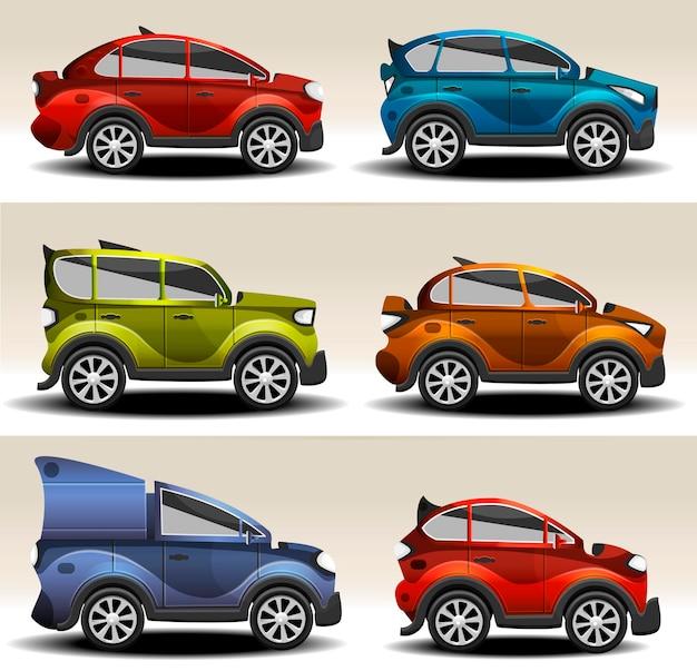 Мультипликационные спортивные автомобили
