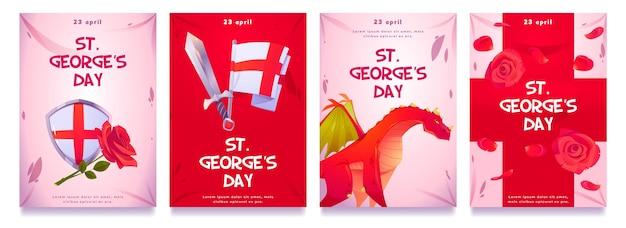漫画セント。ジョージの日のインスタグラムストーリーコレクション