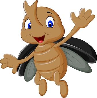Мультяшный олень-жук