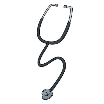 Cartoon stethoscope