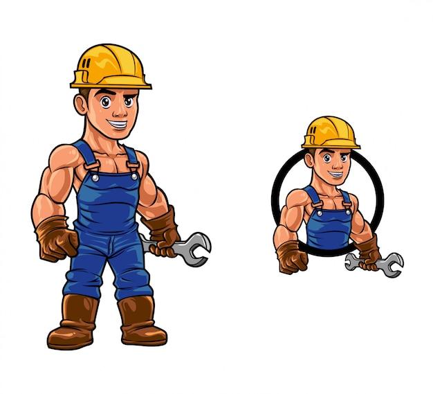 Cartoon strong build