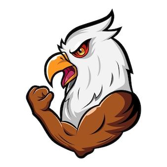만화 강한 독수리 마스코트 디자인