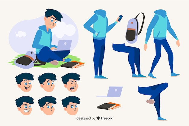 Character Animation Vectors, Photos and PSD files | Free