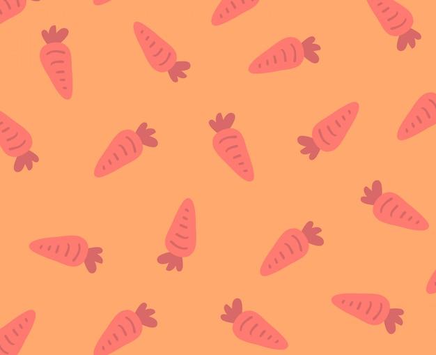 Cartoon style carrot seamless pattern