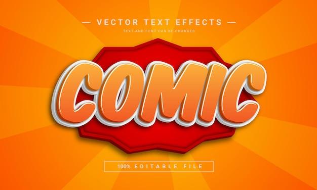 Cartoon style comic text effect