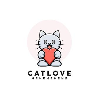 漫画風のかわいい猫のイラスト