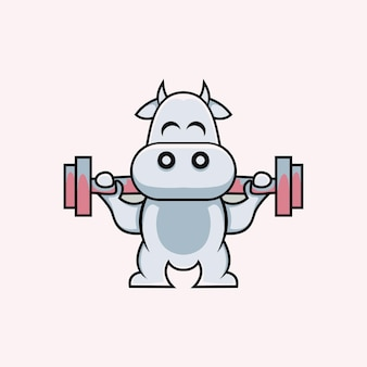 Cartoon style cute cow illustration