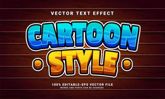 Редактируемый текстовый эффект в мультяшном стиле, подходящий для концепции мультяшного стиля