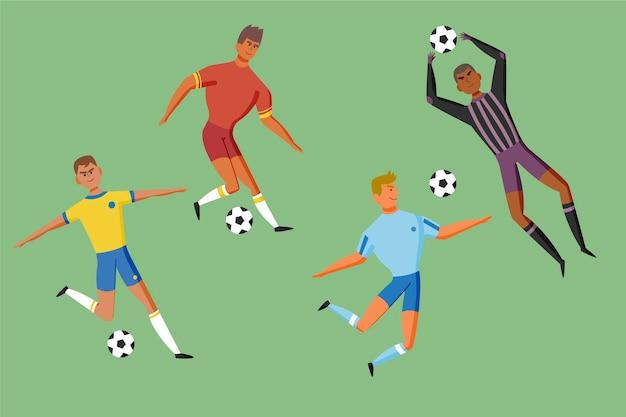 Cartoon style football players