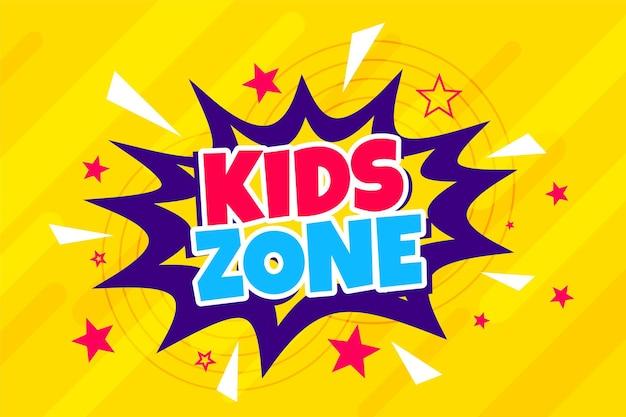 Sfondo della zona dei bambini in stile cartone animato